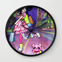Harajuku Girl Wall Clock