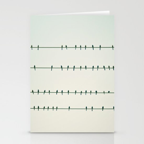 Birds on Four Wires  Stationery Cards