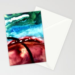 the earth is on fire Stationery Cards