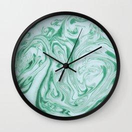 Marble Acrylic Jade Green Wall Clock