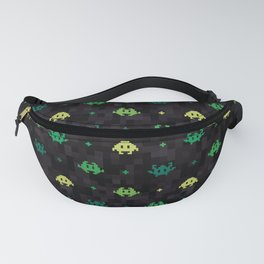 Pixel Space Monsters (Green) Fanny Pack