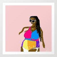 bikini Art Prints featuring Bikini  by Hannah Grant