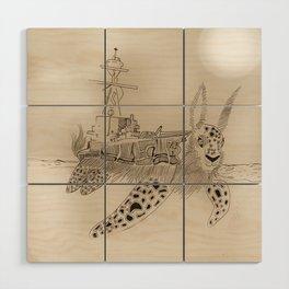 Shell Back Wood Wall Art
