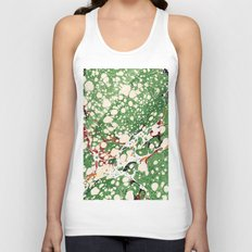 Marbled Green Bubbles Unisex Tank Top