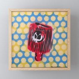 Yellow Dot Cap Framed Mini Art Print