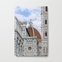 Florence in All Metal Print
