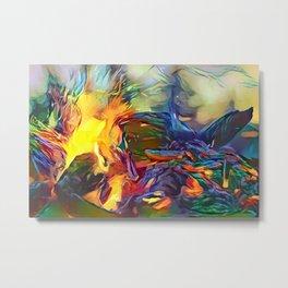 Groovy Fire Metal Print