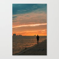 running Canvas Prints featuring Running  by jmiguel