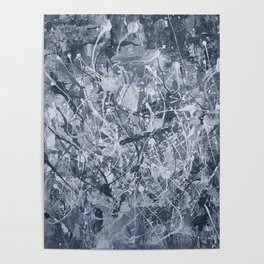 Abstract black painting Poster