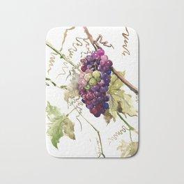 Grapes, California Vineyard Wine Lover design Bath Mat