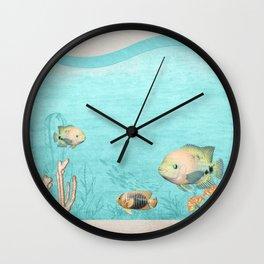 under the ocean seascape Wall Clock