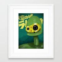 laputa Framed Art Prints featuring Laputian Robot by Rock On Robot
