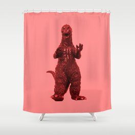 Redzilla Shower Curtain