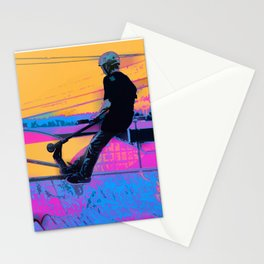 On Edge -  Stunt Scooter Artwork Stationery Cards