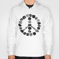 peace Hoodies featuring Peace by Elisabeth Fredriksson