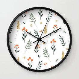 Wildflowers II Wall Clock