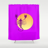 scorpio Shower Curtains featuring Scorpio by Geni