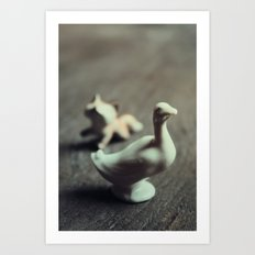 goose & fox Art Print