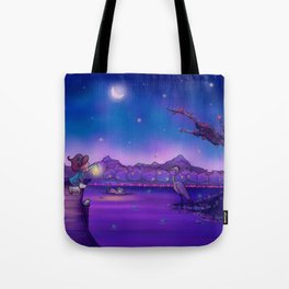 The Unexpected Visitor Tote Bag