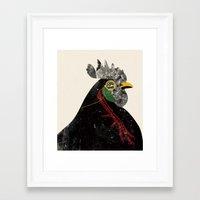 rooster Framed Art Prints featuring Rooster by Urška Hočevar