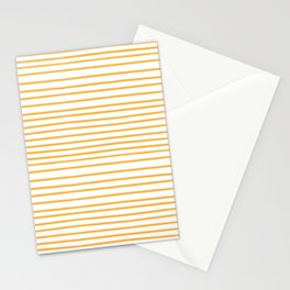 Yellow stripes on white  Stationery Cards