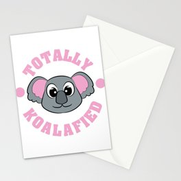 """Be """"Totally Koalafied"""" with this cute and adorable koala inviting you to grab them now!  Stationery Cards"""