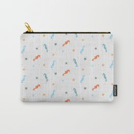 Seahorses and Starfish Carry-All Pouch