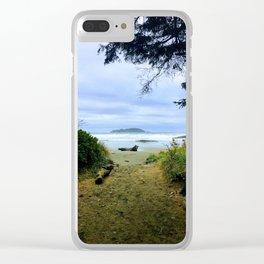 Tofino Beach Entrance Clear iPhone Case