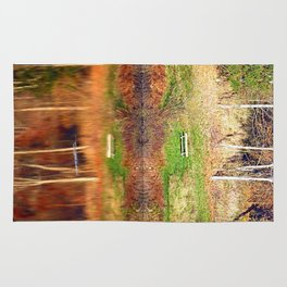 Water reflections on the river | waterscape photography Rug