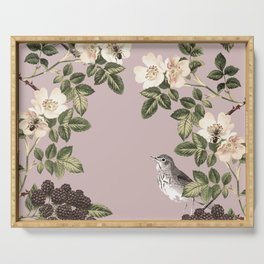 Birds and the Bees Pink Berry Serving Tray