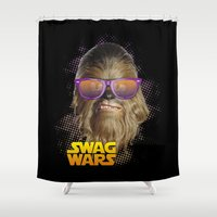 chewbacca Shower Curtains featuring Chewbacca Swag by Heretic