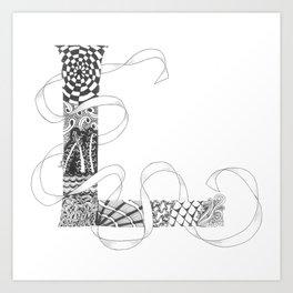 """Zenletter """"L"""" Art Print"""