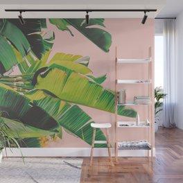 Palm Tree Leaves III (Pink) Wall Mural