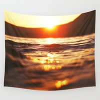 lake Wall Tapestries featuring Lake by Meg Hartley Photography