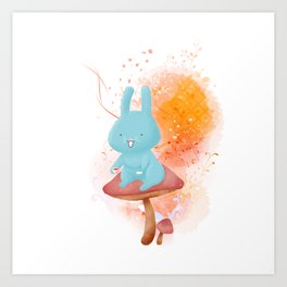 Kit Tea Rabbit Art Print