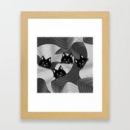 Hidden Kitties Framed Art Print