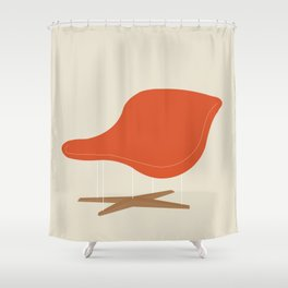 Orange La Chaise Chair by Charles & Ray Eames Shower Curtain