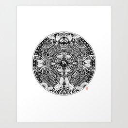 deer mandala Art Print