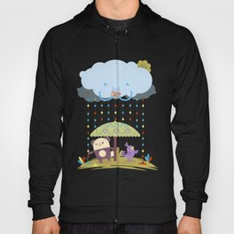 color raindrops keep falling on my head Hoody
