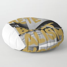 Concrete Brutalism Gold  Floor Pillow