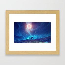 Stellar collision Framed Art Print