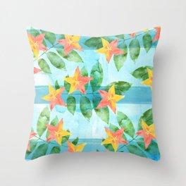 Exotic Star Fruit Pattern Throw Pillow