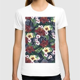 Geometric and Flowers T-shirt