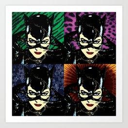 Four Catwomen Art Print