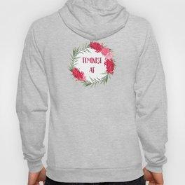 Feminist AF - Australian Floral Wreath Hoody