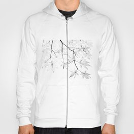 black and white maple leaves Hoody