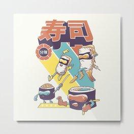 Sushi Sentai Metal Print