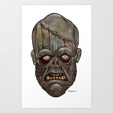 Heads of the Living Dead Zombies: Man Made Zombie Art Print