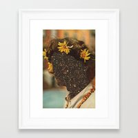 sagan Framed Art Prints featuring Sagan flowers by Mariano Peccinetti