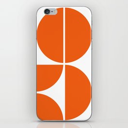 Mid Century Modern Orange Square iPhone Skin